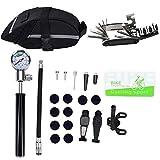 Anna-neek Fahrrad Reparatur Werkzeug Set Multitool Tasche für unterwegs 7 im 1 Kits Fahrrad Instandhaltung Fix Werkzeuge mit Sattel Tasche Tasche Mini Pumpe Reifen Inflator Patch Brecheisen