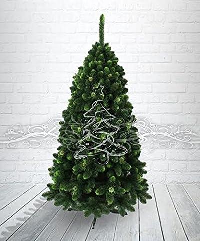 Künstlicher Weihnachtsbaum Kiefer Gold mit Zapfen und grünen Spitzen 150