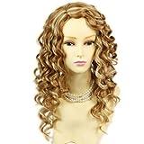 Wunderschönes lang gewellt Perücken Blonde Conversion aktiviert Frauen Perücken mit Faux Kopfhaut