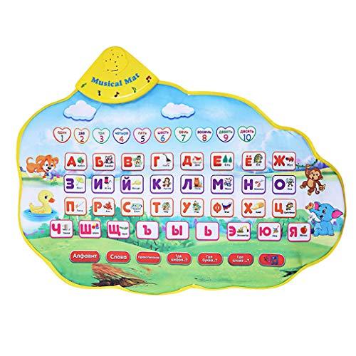 Rekkle Russisches Alphabet Spiel-Matten-Musik Animal Sounds Educational Lernen Baby-Spielzeug Spielteppich (Matte Sound)