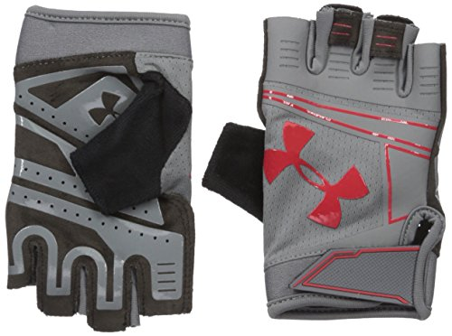 Under Armour Cool Switch Flux Guantes, Hombre, Gris/Rojo, Medium