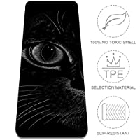 Eslifey Cute Cat Yoga Mat Thick Non Slip Yoga Mats for Women&Girls Exercise Mat Soft Pilates Mats,(72x24 in, 1/4-Inch Thick)