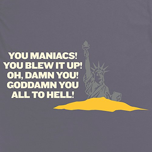 Inspired By Planet Of The Apes - You Maniacs T-Shirt, Damen Anthrazit