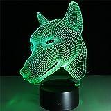 7 farbwechsel hund nachtlicht sammeln charizard 3d led tisch schreibtischlampe cartoon abbildung kinder nachttisch lampen 3d lampe