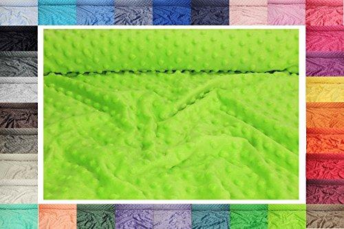 Erhalten Baby-fleece-decken (Minky Grübchen Punkt stoff , dickflüssig flauschiger Plüschstoff mit Noppen Fleece 50 x 155 cm (Nr 34 Aquamarin))
