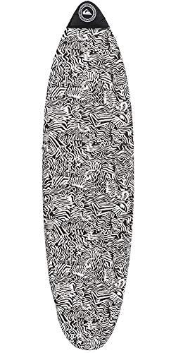 """QUIKSILVER Euroglass Funboard Surfboard Sock Socken 6\';7\""""Schwarz - Easy Stretch"""
