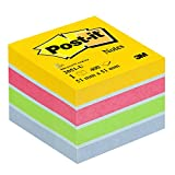 Post-It 2051-U - Papel para notas auto adhesivo (5.1 x 5.1 cm), multicolor