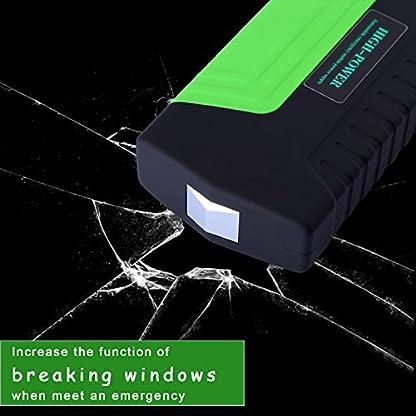 Arrancador de Coche de 16800 mAh, YOKKAO, Jump starter Cargador para Baterías de 12V y Cargador de 12V, 16V y 19V, Batería Externa con Luces de Emergencia, Kit de Arranque para Coche, Moto y Cargador de Smartphone, Laptop, etc. (Verde)