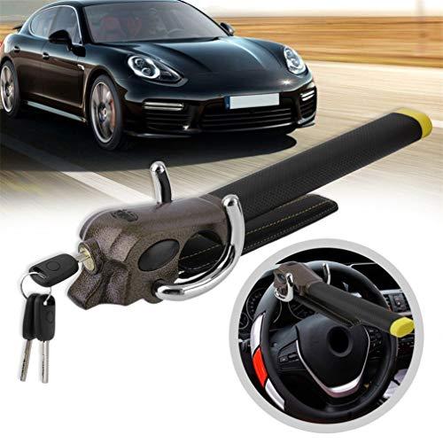 QKa Lenkradschloss, Universal-Faltauto-Lenkrad-Diebstahlsicherung 3-Richtungs-Airbagschloss