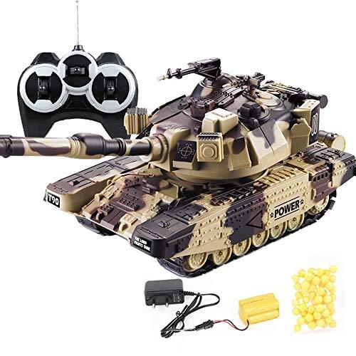 Kikioo carri armati militari di battaglia principale di 2.4ghz rc carro armato di panzer del carro armato tedesco tigre i con suono, torretta girevole e azione di rinculo quando l'artiglieria del cann