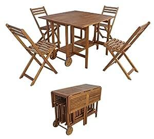 5tlg belardo minoa balkonset akazie klappbar holz garten sitzgruppe gartenm bel. Black Bedroom Furniture Sets. Home Design Ideas