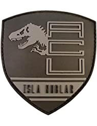 Jurassic World Isla Nublar Shield Collector PVC 3D Rubber Hook&Loop Patch