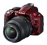 Nikon D3100 SLR-Digitalkamera (14 Megapixel, Live View, Full-HD-Videofunktion) Kit inkl. AF-S DX 18-55 VR Objektiv rot