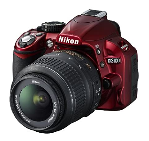 Nikon D3100 SLR-Digitalkamera (14 Megapixel, Live View, Full-HD-Videofunktion) Kit inkl. AF-S DX 18-55 VR Objektiv