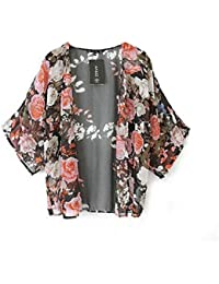 Malloom® mujer vendimia floral borla franja chal Tops kimono abrigo blusa