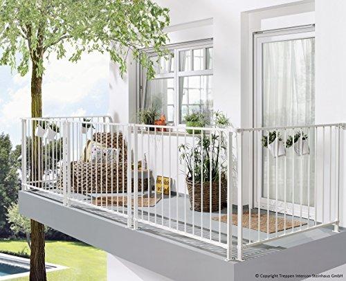 Intercon Balcony Rail System, 150cm Width, 110cm Height, Steel, White