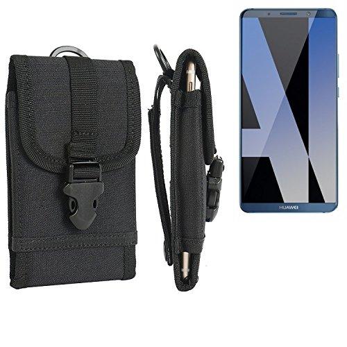 Für Huawei Mate 10 Pro Dual SIM Gürteltasche Gürtel Tasche Holster Schutzhülle extrem robuste Handy Schutz Hülle Smartphone Tasche outdoor Handyhülle für Huawei Mate 10 Pro Dual SIM schwarz - - Dual-tasche-gürtel