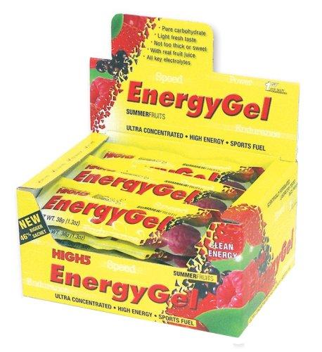 20x Barritas Energéticas High 5 Energy Gel - Frambuesa + Cafeina - 38g