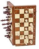 Schach Schachspiel - MAGNETISCHE Staunton Nr 4 - Schachfiguren & Schachbrett aus Holz