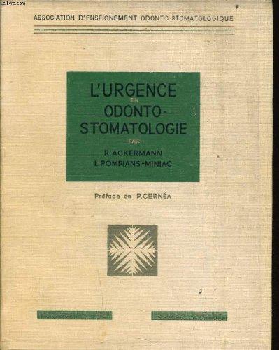 L'urgence odonto-stomatologie
