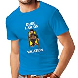 lepni.me N4286 Männer T-Shirt To Be Urlaub (Small Blau Mehrfarben)