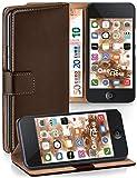 MoEx Étui Folio à Support vidéo Compatible iPhone 5C | Fente pour Argent/Cartes, Marron foncé