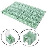 Manyo–Juego de 50pcs SMD SMT Caja de Almacenamiento componente electrónico contenedor Mini Cajas de Almacenamiento de Kit