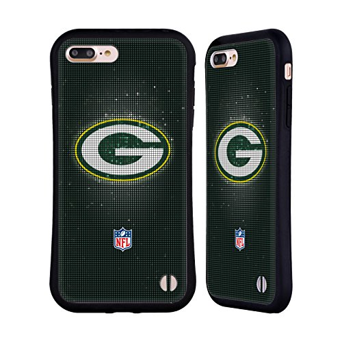 Ufficiale NFL Pattern 2017/18 Green Bay Packers Case Ibrida per Apple iPhone 6 / 6s LED