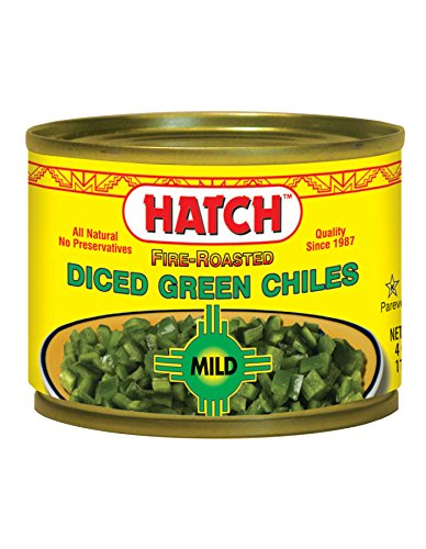 Price comparison product image Hatch Farms Peeled Chopped Green Chiles Mild 4 Oz (Pack of 24)
