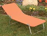 Kinderliege Kinder Gartenliege Sonnenliege orange 126 cm