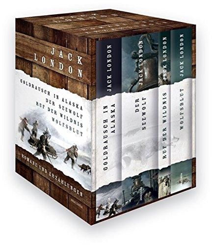 Jack London - Romane und Erzählungen (Vier Bände im Schuber) - Goldrausch in Alaska - Der Seewolf - Ruf der Wildnis - Wolfsblut