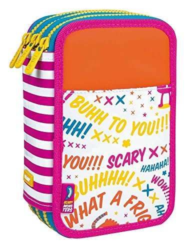 Estuche Milan Scary Monsters II Triple 53 Piezas