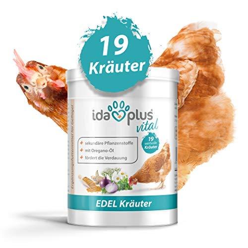 Ida Plus - Hühner Edel-Kräuter (500 g) - Mischung aus 19 wertvollen Kräutern - für Verdauung - ausgewogenes Futter 100% natürlich - Immunsystem-mischung