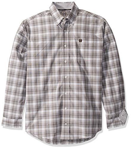 Cinch Herren Classic Fit Shirt Hemd, Wan Blue Plaid, Mittel -