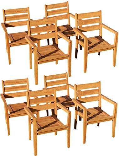 ASS ECHT Teak Gartensessel Gartenstuhl Sessel Stapelsessel Gartenmöbel Holz stapelbar seh