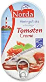 Norda Heringsfilets, zarte Fisch-Filets in Tomaten-Creme, MSC zertifiziert, 200 g