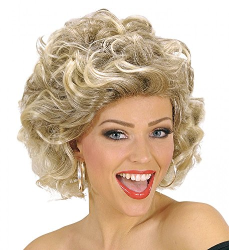 Kostüm Grease Damen Pink - shoperama 50er 60er Jahre Grease Damen Perücke Sandy Olsson Olivia Locken Dauerwelle gelockt blond