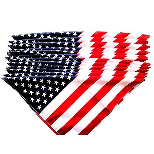 Ndier American Flag Bandana American Flag Printed Stirnband USA spielt Streifen Haarband für Männer und Frauen 12st Schmuck