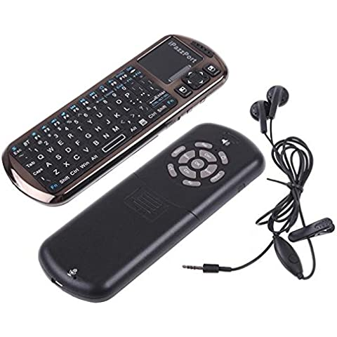 Transer® kp-810-18bv Mini Teclado Bluetooth Mouse touchpad para laptop PC Tablet (Negro)