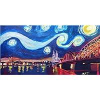 Glasbild Bleichner Venedig bei Nacht WANDBILD WANDDEKO DIREKTDRUCK BILD