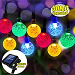 iihome, 36ft(11M) 60 LED String Outdoor IP65 Waterproof Solar Powered Crystal Ball Decorative Lighting 8 Modes for… 14