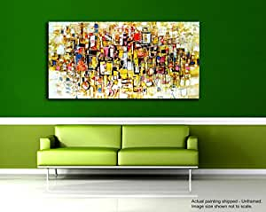 Tamatina Modern Art Canvas Paintings   Squares Up   Abstract Paintings    Large Painting   5