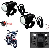 #4: Vheelocityin U1 LED Motorycle Fog Light Bike Projector Auxillary Spot Beam Light (Black, 2Pc) For Bajaj Pulsar 180