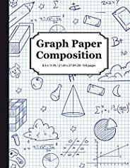 Graph Paper Composition Notebook: Math & Science Composition Book, Quad Ruled 5x5 Grid Paper