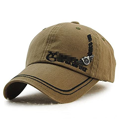 Ahat Olive Green Modische und Casual Cotton Baseball Cap mit