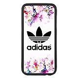 custom-case Coque Coque TPU pour Tous Les Mobile avec Design Adidas Fleurs Arrière Retro Vintage Logo pour iPhone 5c