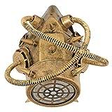 Zoelibat Steampunk Gasmaske - Bronze - Reizvolles Accessoire für Halloween, Fasching oder Mottoparty