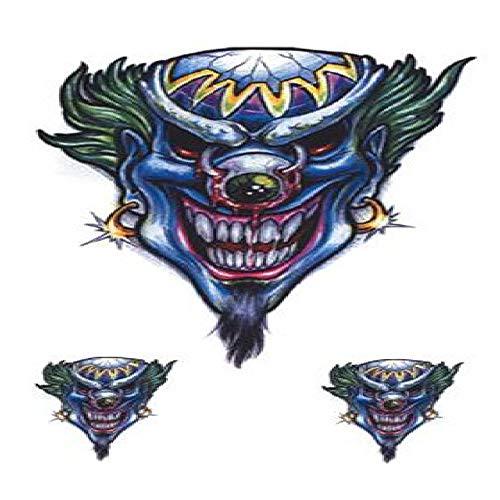 adgkitb 5 stücke Joker Tattoo Aufkleber Wasserdicht Halloween Parteibevorzugung Dekoration Gefälschte Tätowierungen SF3704 10,5X6 cm
