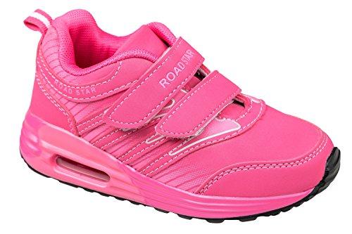Gibra® Bambini Sport scarpe, con chiusura in velcro, Rosa, Taglia 25–35 Pink