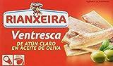 Rianxeira 1254 - Ventresca de Atún Claro en Aceite de Oliva , pack de 5 x 111 gr - Total: 555 gr